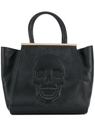 Philipp Plein Skull Tote Bag Women Leather Suede One Size Black