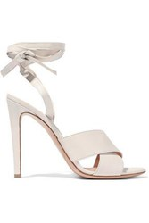 Gianvito Rossi Crissy Leather Sandals Ivory