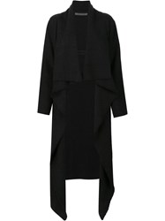 Denis Colomb Long Redingote Coat Black