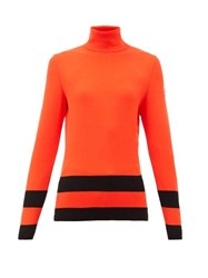 Fusalp Ubac Striped Roll Neck Top Red