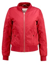 Tom Tailor Denim Bomber Jacket Chimney Red