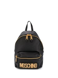 Moschino Lettering Logo Backpack Black