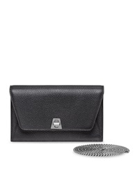 Anouk Leather Clutch Bag W Chain Black Akris