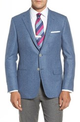 Hickey Freeman Men's Beacon Classic Fit Wool And Cashmere Blazer Light Blue
