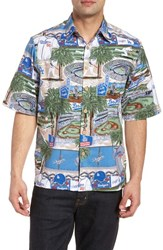 Reyn Spooner Los Angeles Dodgers Classic Fit Camp Shirt Scenic