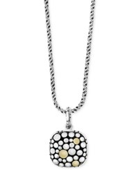 Effy Two Tone Dotted Pendant Necklace In Sterling Silver And 18K Gold
