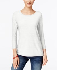 Jm Collection Jacquard Top Only At Macy's Winter White