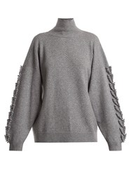 Barrie Timeless Roll Neck Cashmere Sweater Grey