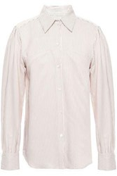 Masscob Woman Loire Pinstriped Broadcloth Shirt Off White Off White