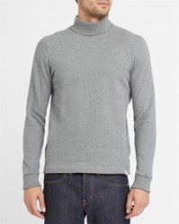 Norse Projects Grey Bue Brushed Cotton Polo Neck Sweatshirt