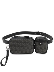 Salvatore Ferragamo Double Pouch Belt Bag Black
