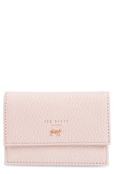 Ted Baker London Eves Accordion Leather Card Case Pink Light Pink