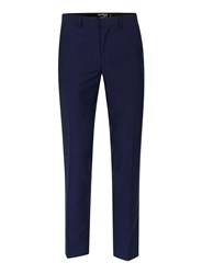 Topman Bright Blue Twill Skinny Fit Suit Trousers