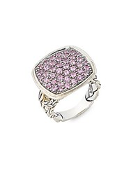 John Hardy Classic Pink Sapphire And Sterling Silver Ring