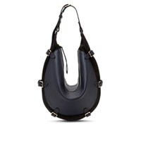 Altuzarra Play Large Leather And Suede Hobo Bag Navy Blk