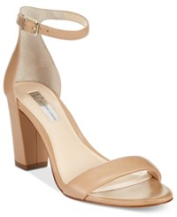 Inc International Concepts Kivah Block Heel Dress Sandals Only At Macy's Women's Shoes Dark Almond