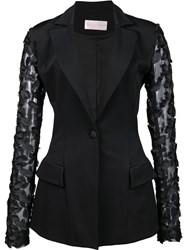 Christian Siriano Fitted Jacket Black
