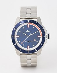 Lacoste 2010701 Durban Stainless Steel Watch With Blue Face Silver