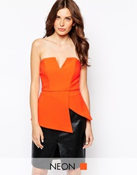 Finders Keepers Jump Then Fall Bustier Burntorange