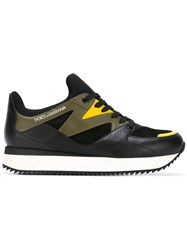 Dolce And Gabbana Panelled Sneakers Black