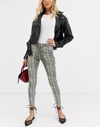 B.Young Snake Print Jeans Multi