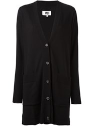 Maison Martin Margiela Mm6 Long Length Knit Cardigan Black