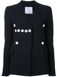 Christopher Esber 'Genesis' Blazer Women Silk Cotton Polyamide Viscose 8 Black