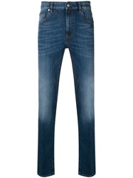 Z Zegna Slim Fit Faded Jeans Blue