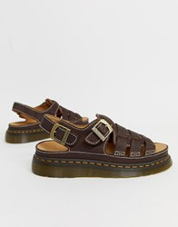Dr. Martens Dr 8092 Arc Sandals In Dark Brown