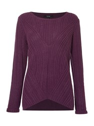 Therapy Rib Detail Cable Jumper Pink
