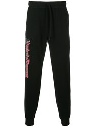Hysteric Glamour Graphic Print Track Pants Cotton Black