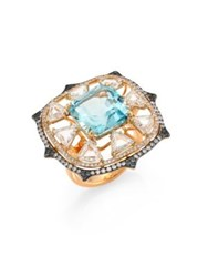 Ivy Diamond And Blue Spinel Ring