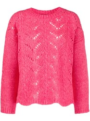Twin Set Open Knit Jumper Pink