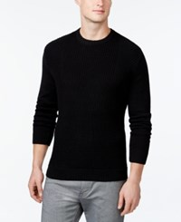 Alfani Black Oliver Texture Sweater Only At Macy's