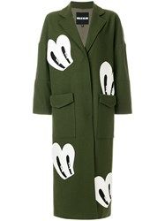 House Of Holland Patch Detail Coat Green