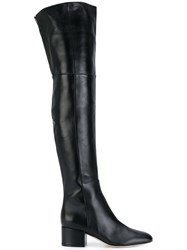 Sergio Rossi Knee Length Boots Leather Nappa Leather 38.5 Black