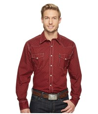Cinch Modern Fit Plain Weave Red Men's Clothing
