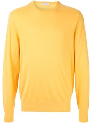 Gieves And Hawkes Crew Neck Jumper Yellow