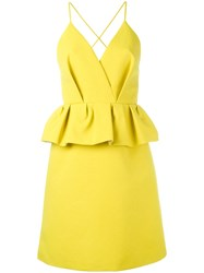Delpozo Peplum Dress Green