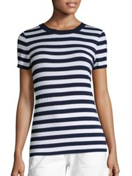 Michael Michael Kors Graphic Striped Tee True Navy