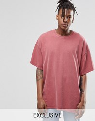 Reclaimed Vintage Oversized T Shirt In Overdye Pink