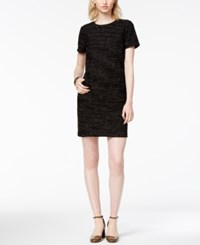 Maison Jules Textured Shift Dress Created For Macy's Black Combo