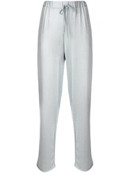 Blugirl Sparkly Casual Track Pants Grey