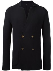 Roberto Collina Double Breasted Jacket Blue