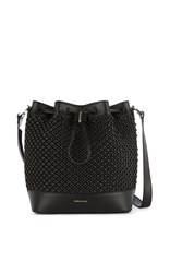 Karen Millen Woven Bucket Bag Black