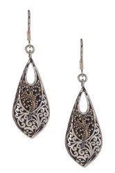 Lois Hill Sterling Silver Classic Long Briolette Drop Earrings No Color