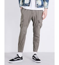 Magic Stick Tapered Cotton Cargo Trousers Fade Olive