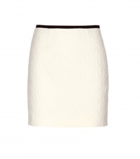 Victoria Beckham Cotton And Wool Blend Miniskirt White
