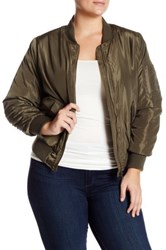 Jolt Bomber Jacket Plus Size Green
