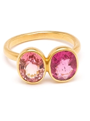 Marie Helene De Taillac 18Kt Gold Spinel Duet Ring Pink And Purple